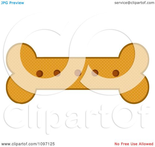 small resolution of clipart baked dog bone biscuit royalty free vector illustration by hit toon