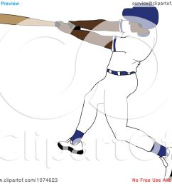 clipart baseball batter black man in a blue helmet royalty free vector illustration by pams clipart [ 1080 x 1024 Pixel ]