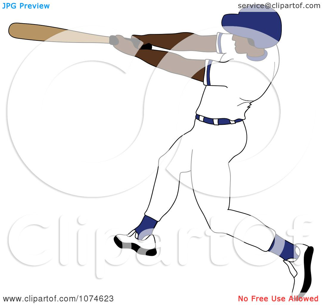hight resolution of clipart baseball batter black man in a blue helmet royalty free vector illustration by pams clipart