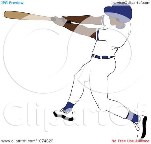 small resolution of clipart baseball batter black man in a blue helmet royalty free vector illustration by pams clipart