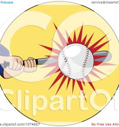 clipart baseball batter hitting a ball royalty free vector illustration by pams clipart [ 1080 x 1024 Pixel ]