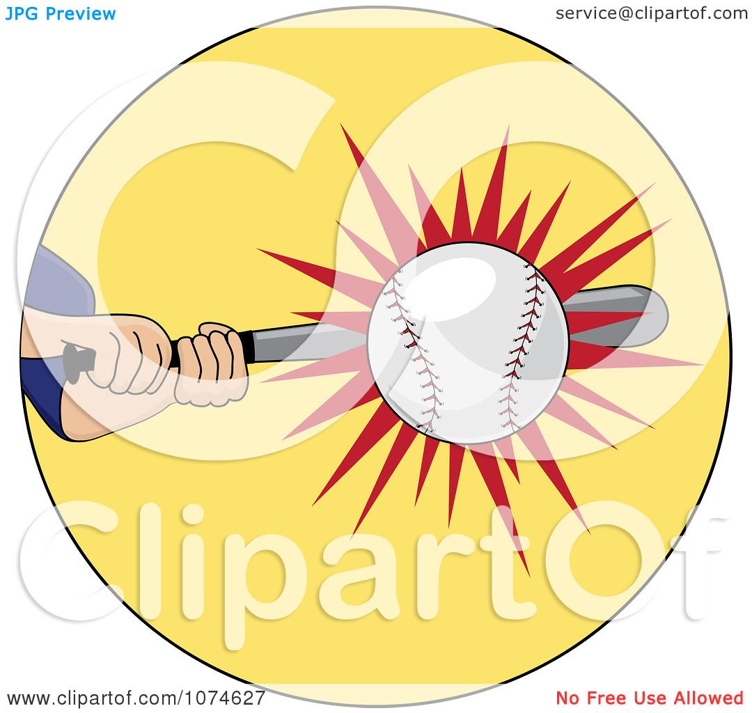 hight resolution of clipart baseball batter hitting a ball royalty free vector illustration by pams clipart