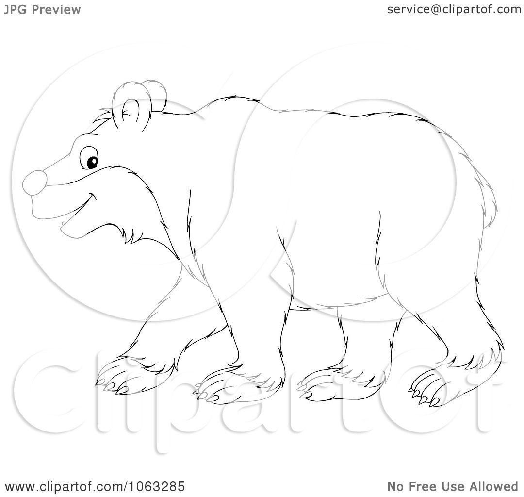 Clipart Bear Outline
