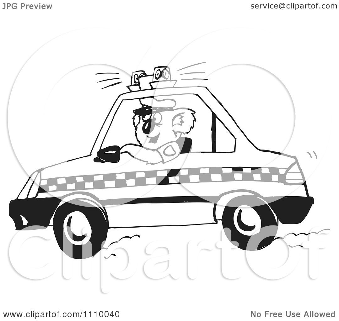 Dog Police Car