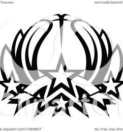 clipart black and white basketball lotus with stars royalty free vector illustration by chromaco [ 1080 x 1024 Pixel ]
