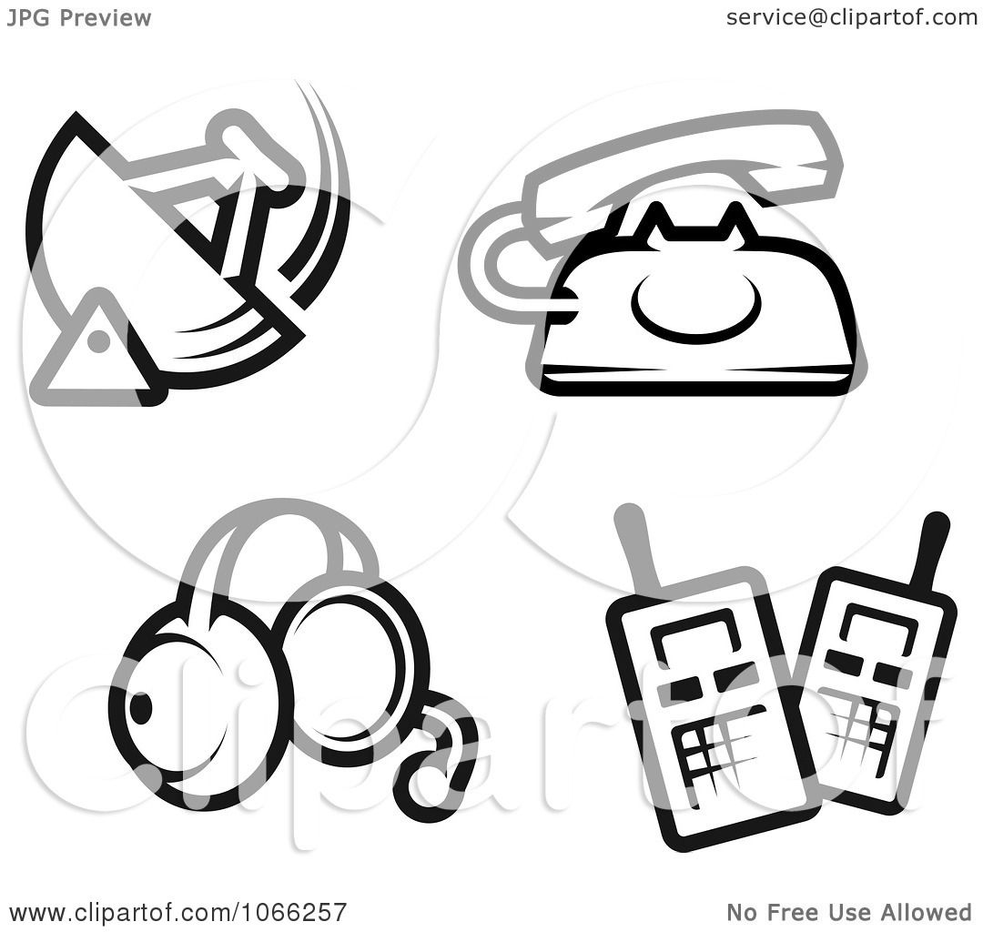 Clipart Black And White Communication Icons
