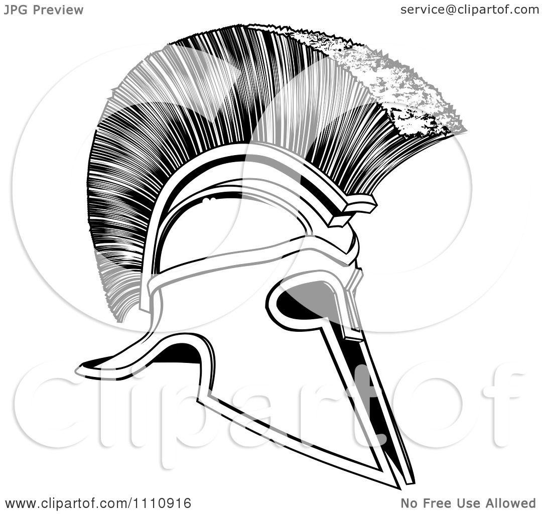 Clipart Black And White Corinthian Trojan Spartan