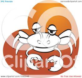 orange crab heart clipart illustration royalty vector regarding notes