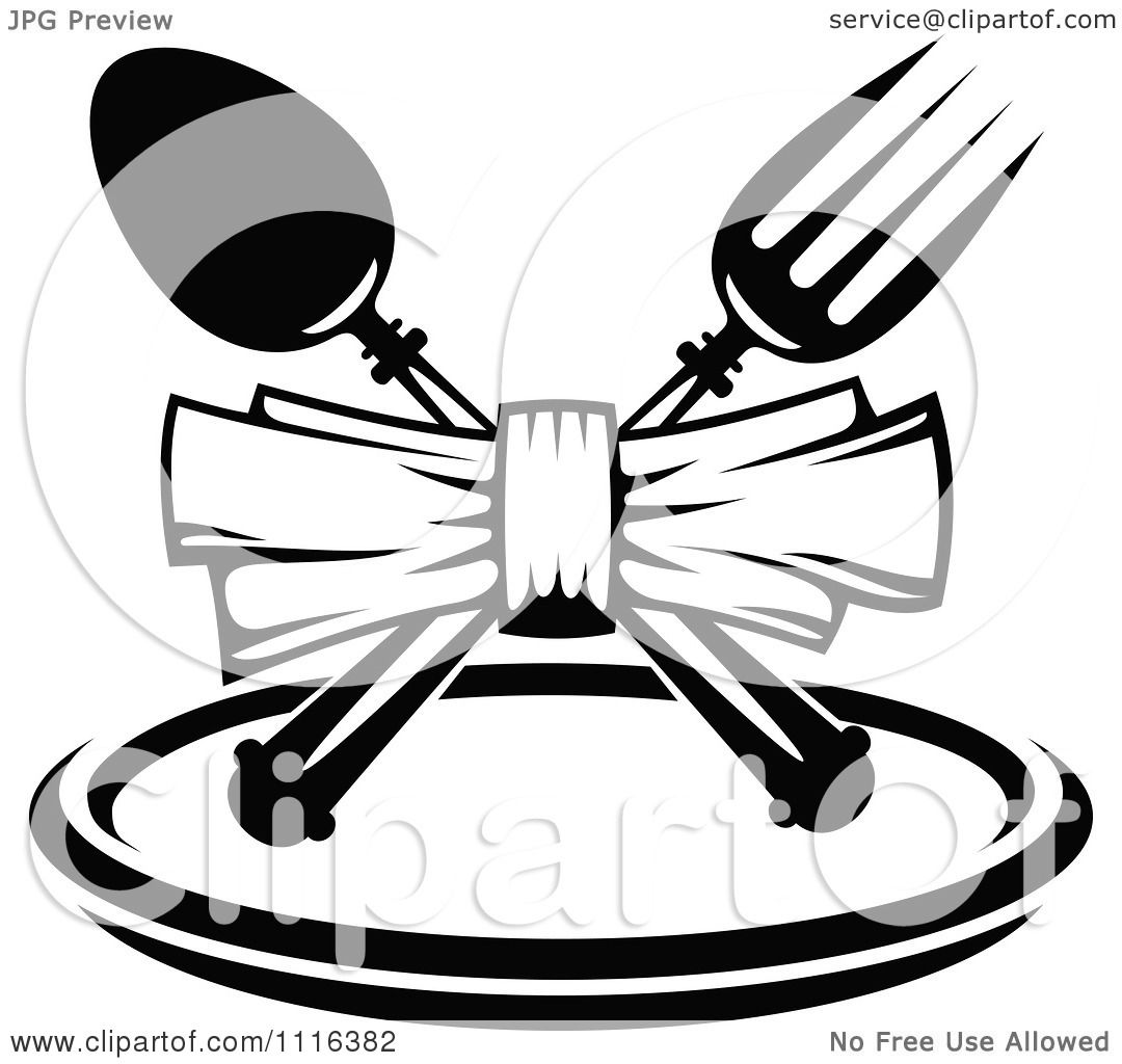 Clipart Black And White Dining And Restaurant Menu