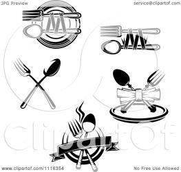 restaurant logos clipart vector dining silverware royalty illustration tradition sm seamartini