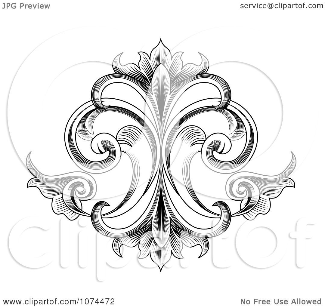 Victorian Art With Scrollwork