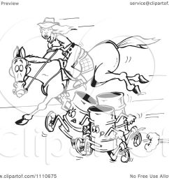 clipart black and white equestrian woman and horse racing barrels royalty free vector illustration by [ 1080 x 1024 Pixel ]