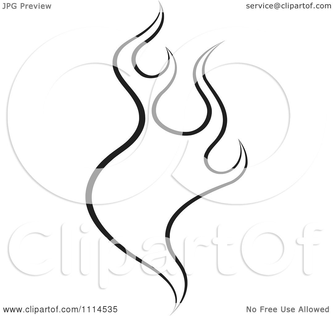 Clipart Black And White Flames