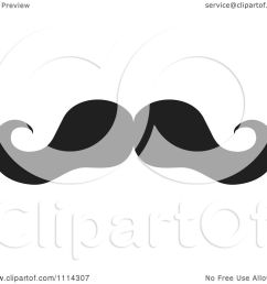 clipart black and white mustache royalty free vector illustration by johnny sajem [ 1080 x 1024 Pixel ]