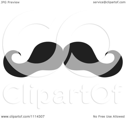small resolution of clipart black and white mustache royalty free vector illustration by johnny sajem
