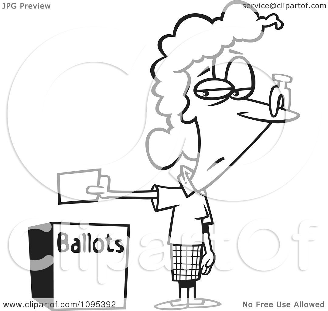 Vote Box Coloring Page Coloring Pages