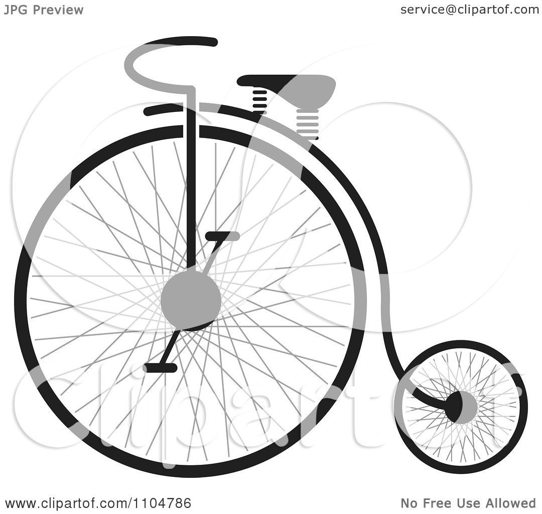 Clipart Black And White Penny Farthing Bike