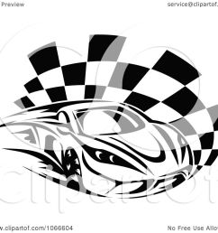 clipart black and white race car and checkered flag 1 royalty free vector illustration by [ 1080 x 1024 Pixel ]