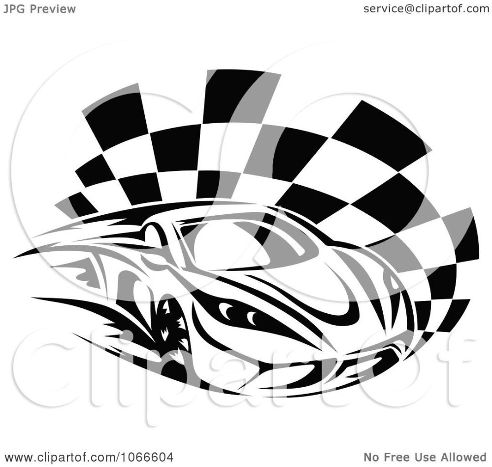 medium resolution of clipart black and white race car and checkered flag 1 royalty free vector illustration by