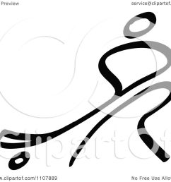 clipart black and white stick drawing of a hockey player royalty free vector illustration by zooco [ 1080 x 1024 Pixel ]