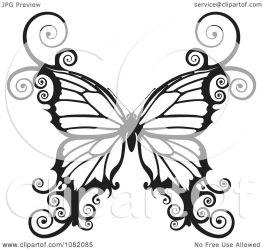 butterfly swirly clipart illustration vector royalty atstockillustration background copyright
