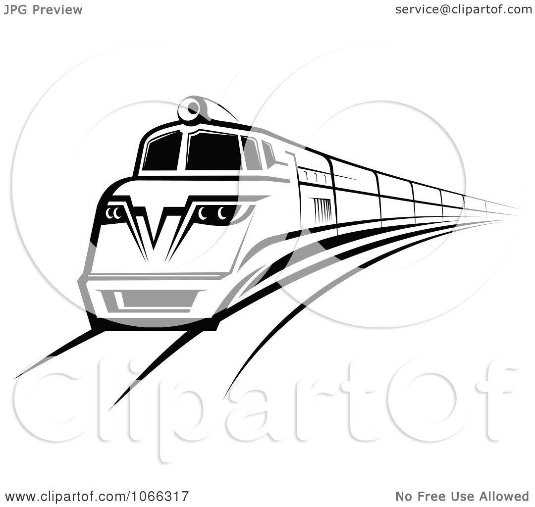 Clipart Black And White Train