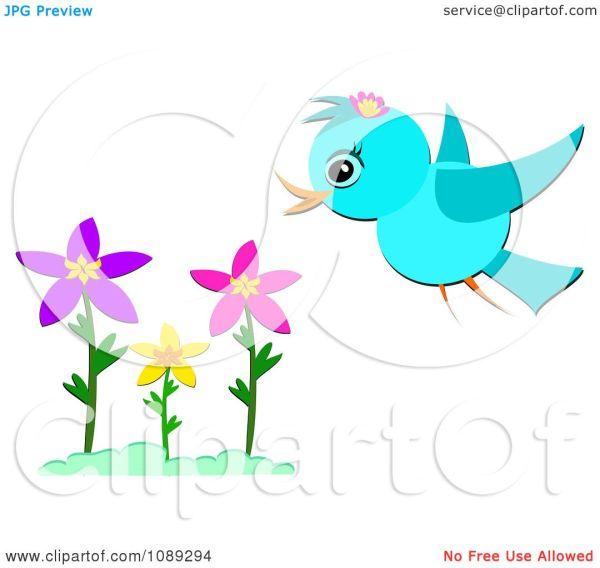 Spring Flowers Clip Art Free Birds