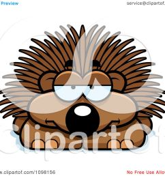 clipart bored porcupine royalty free vector illustration by cory thoman [ 1080 x 1024 Pixel ]