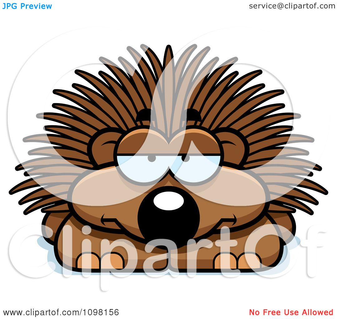 hight resolution of clipart bored porcupine royalty free vector illustration by cory thoman