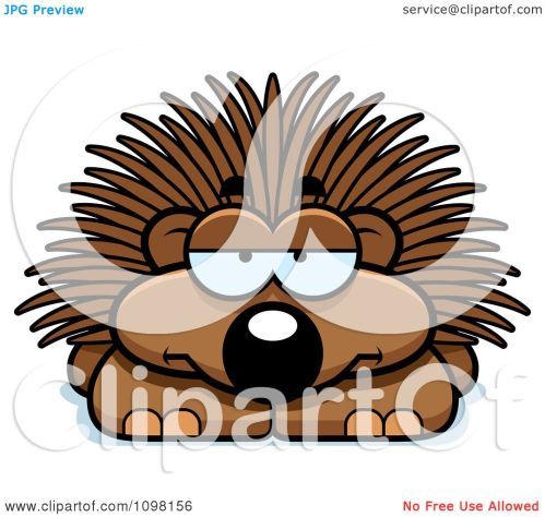 small resolution of clipart bored porcupine royalty free vector illustration by cory thoman