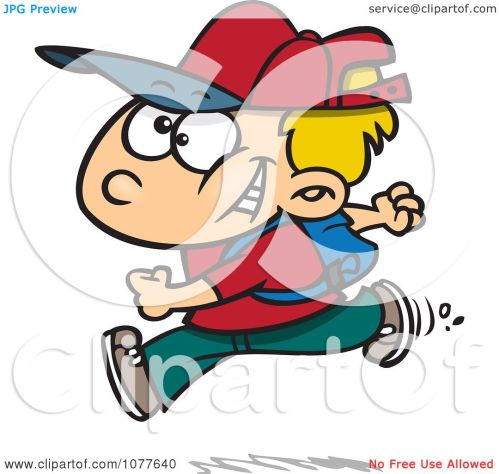 small resolution of clipart boy running on his first day of school royalty free vector illustration by toonaday