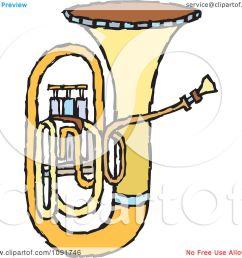 clipart brass tuba royalty free vector illustration by steve klinkel [ 1080 x 1024 Pixel ]