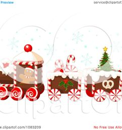 clipart christmas gingerbread train with snow royalty free vector illustration by pushkin [ 1080 x 1024 Pixel ]