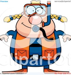 clipart chubby female scuba diver royalty free vector illustration by cory thoman [ 1080 x 1024 Pixel ]