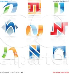 clipart colorful letter n icons with reflections royalty free vector illustration by cidepix [ 1080 x 1024 Pixel ]