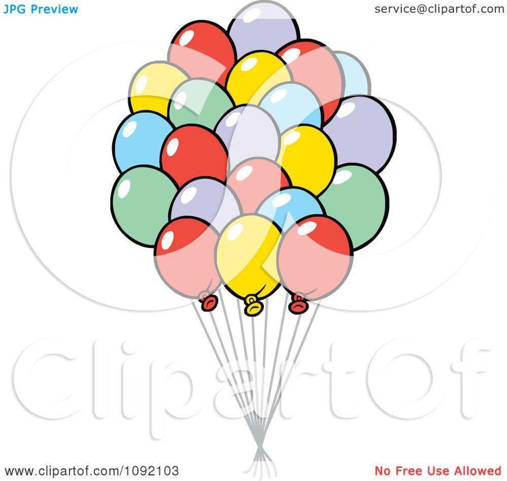 medium resolution of clipart colorful party balloon bouquet royalty free vector illustration by johnny sajem
