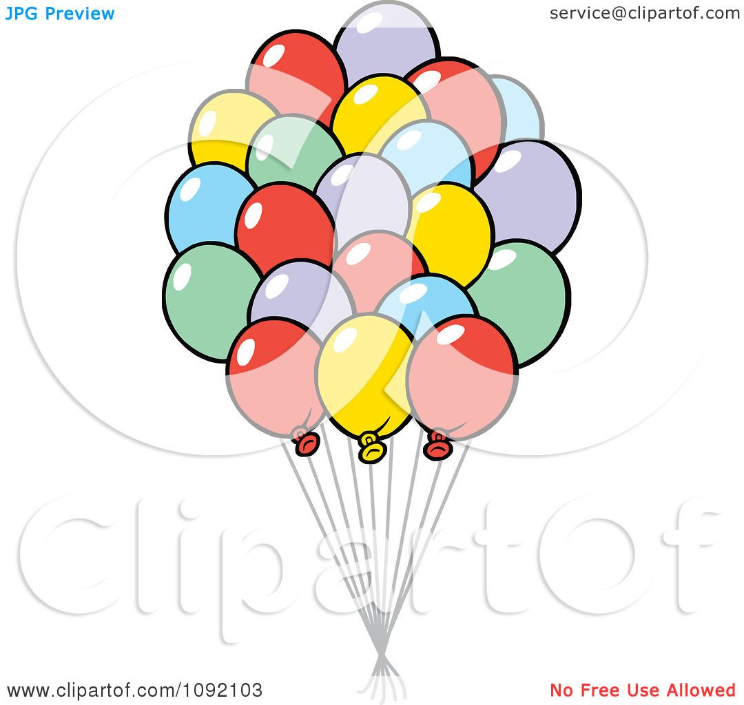 hight resolution of clipart colorful party balloon bouquet royalty free vector illustration by johnny sajem