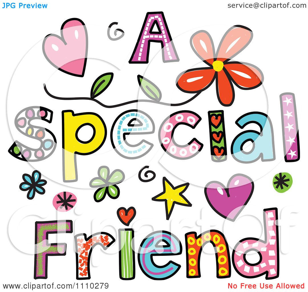 hight resolution of clipart colorful sketched a special friend text royalty free vector illustration by prawny