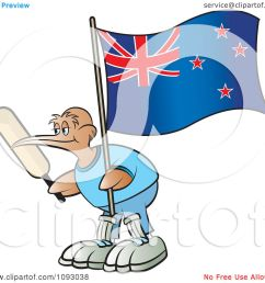 clipart cricket kiwi bird holding a bat and new zealand flag royalty free vector illustration by lal perera [ 1080 x 1024 Pixel ]