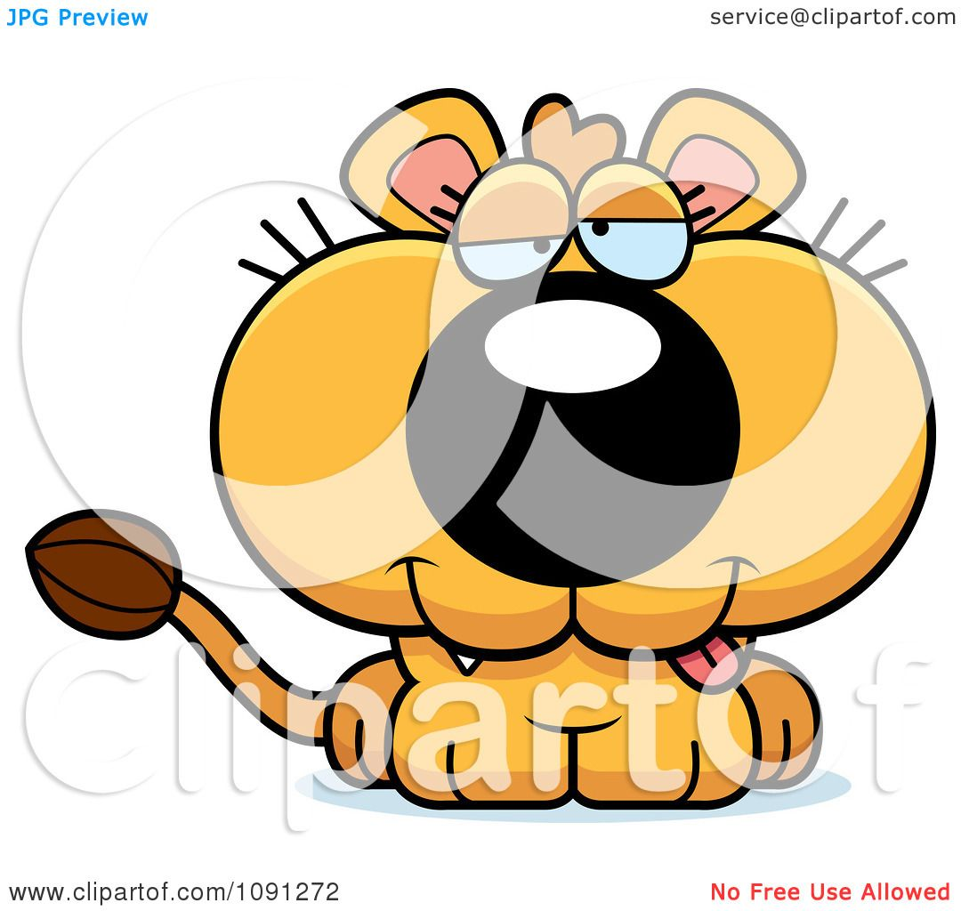hight resolution of clipart cute dumb lioness royalty free vector illustration by cory thoman