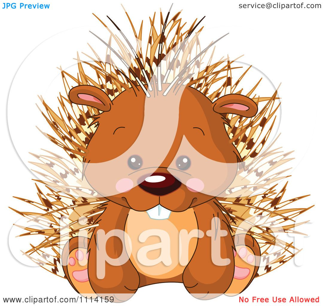 hight resolution of clipart cute sitting porcupine royalty free vector illustration