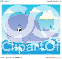 whale visekart cute spouting illustration clipart ocean royalty vector