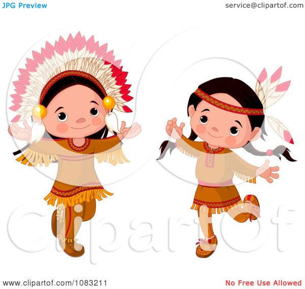 Native American Thanksgiving Clip Art Girl