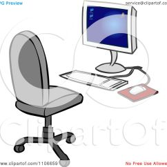 Ergonomic Chair Law Bed Pillow Clipart Desktop Computer And Office Royalty Free