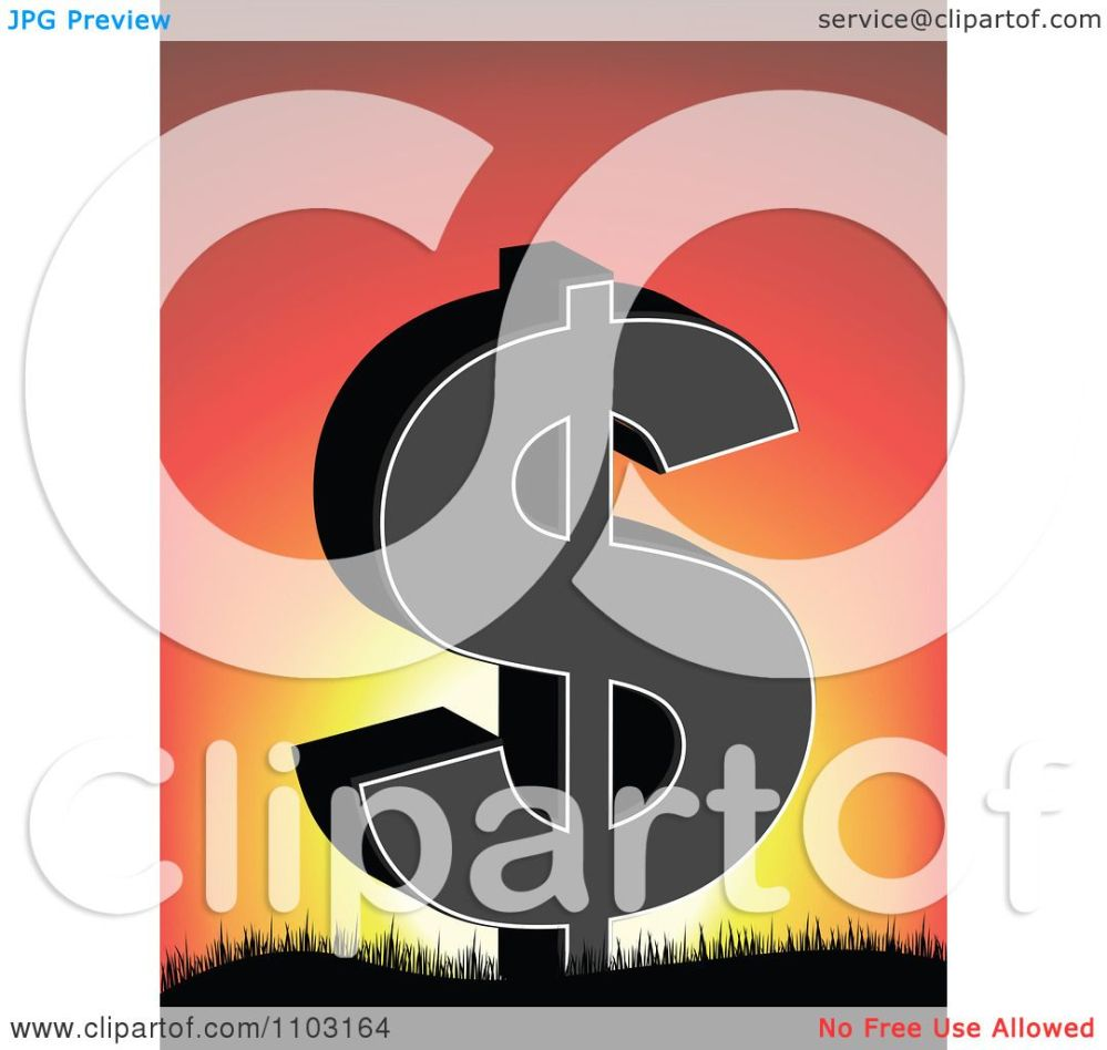 medium resolution of clipart dollar symbol on against a sunset royalty free vector illustration by andrei marincas