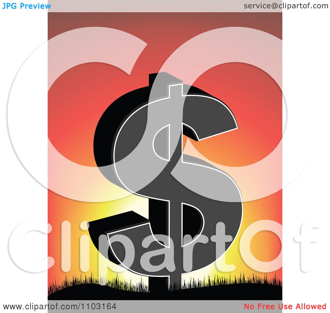 hight resolution of clipart dollar symbol on against a sunset royalty free vector illustration by andrei marincas