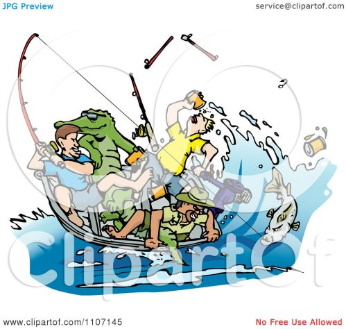 small resolution of clipart drunk men fishing with an alligator in the boat and a big fish on a
