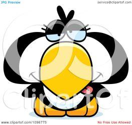 penguin drunk chick clipart illustration vector thoman cory royalty copyright background regarding notes