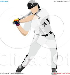 clipart faceless baseball player batting 2 royalty free vector illustration by leonid [ 1080 x 1024 Pixel ]