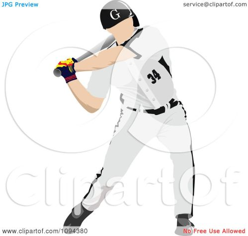 small resolution of clipart faceless baseball player batting 2 royalty free vector illustration by leonid